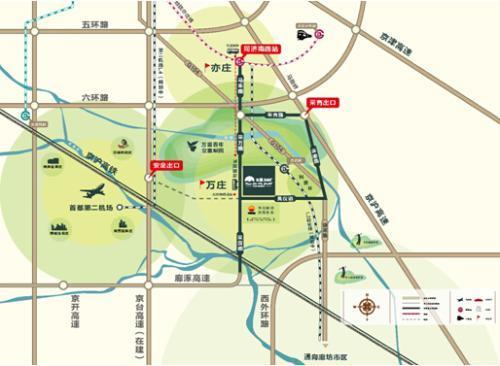 位于大北京区域首都第二机场新空港廊坊市万庄新城