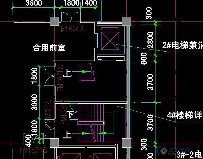 与消防电梯合用前室的面积不应小于6