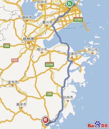 从上海到温州开车怎么走?