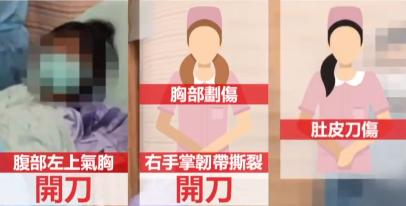 台湾新冠确诊男子砍伤3名医护,致1人右手韧带断裂!