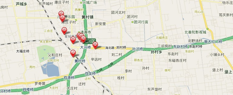 北京古桑国家森林公园导游图