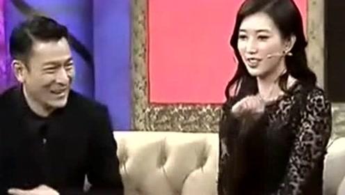 女明星遇上刘德华也疯狂,林志玲控制不住自己的手,华仔吓得直冒汗