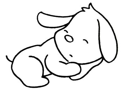 小狗睡觉怎么画简笔画