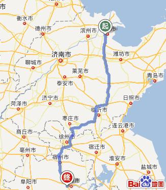 东营到蚌埠怀远全程高速多少公里