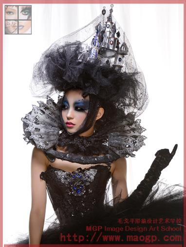 创意彩妆,t台整体创意造型组成,并增设面饰,头饰,服装手工制作等培养