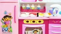 爱探险的朵拉新厨房冰箱儿童玩具