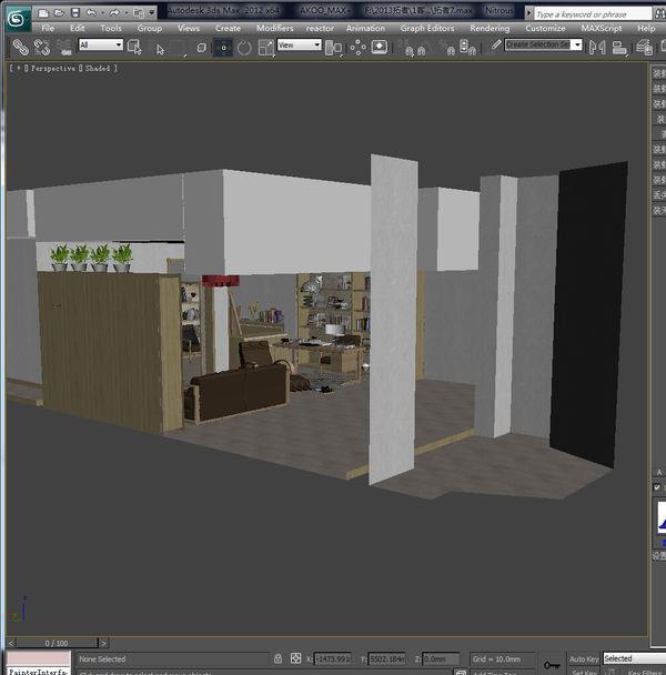 3dmax 建筑室内效果 把墙变透明怎么做
