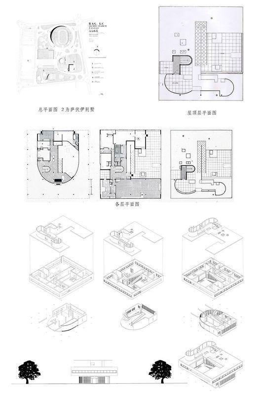 萨伏伊别墅模型的平面图立面图还有3D效果图和CAD图, 还有尺寸标注 萨伏伊别墅在设计上与以往的欧洲住宅大异其趣。轮廓简单,像一个白色的方盒子被细柱支起。水平长窗平阔舒展,外墙光洁,无任何装饰,但光影变化丰富。别墅虽然外形简单,但内部空间复杂,如同一个内部精巧镂空的几何体,又好像一架复杂的机器。该建筑采用了钢筋混凝土框架结构,平面和空间布局自由,空间相互穿插,内外彼此贯通,它外观轻巧,空间通透,装修简洁,与造型沉重、空间封闭、装修繁琐的古典豪宅形成了强烈对比。请加Q群。 85513885