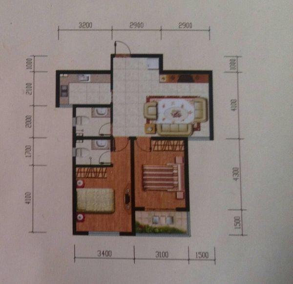 两室一厅一厨两卫,求电路设计图,一共多少个回路,每个