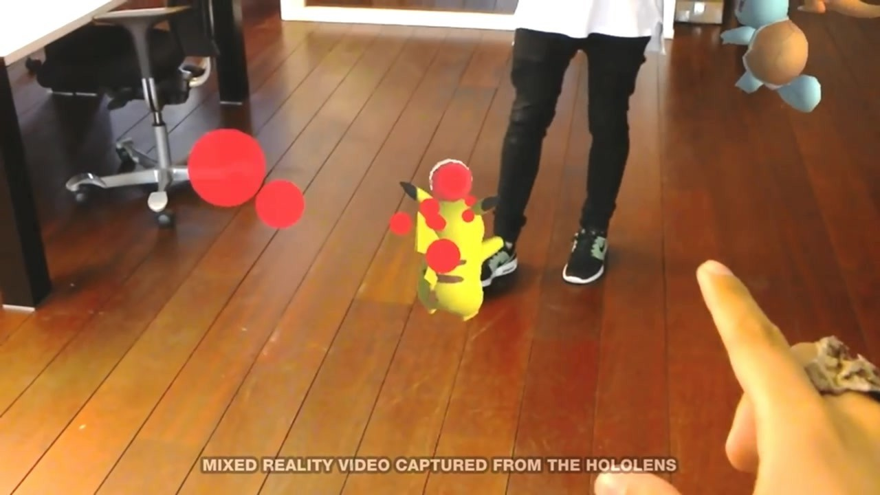 HoloLens版《口袋妖怪Go》演示