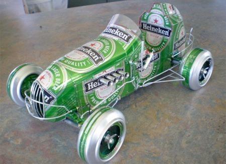 易拉罐手工小车制作方法高清图片