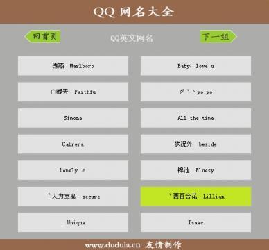 网民英文  个性的英文网名最好带翻译 英文网名是为广大qq用户提供的