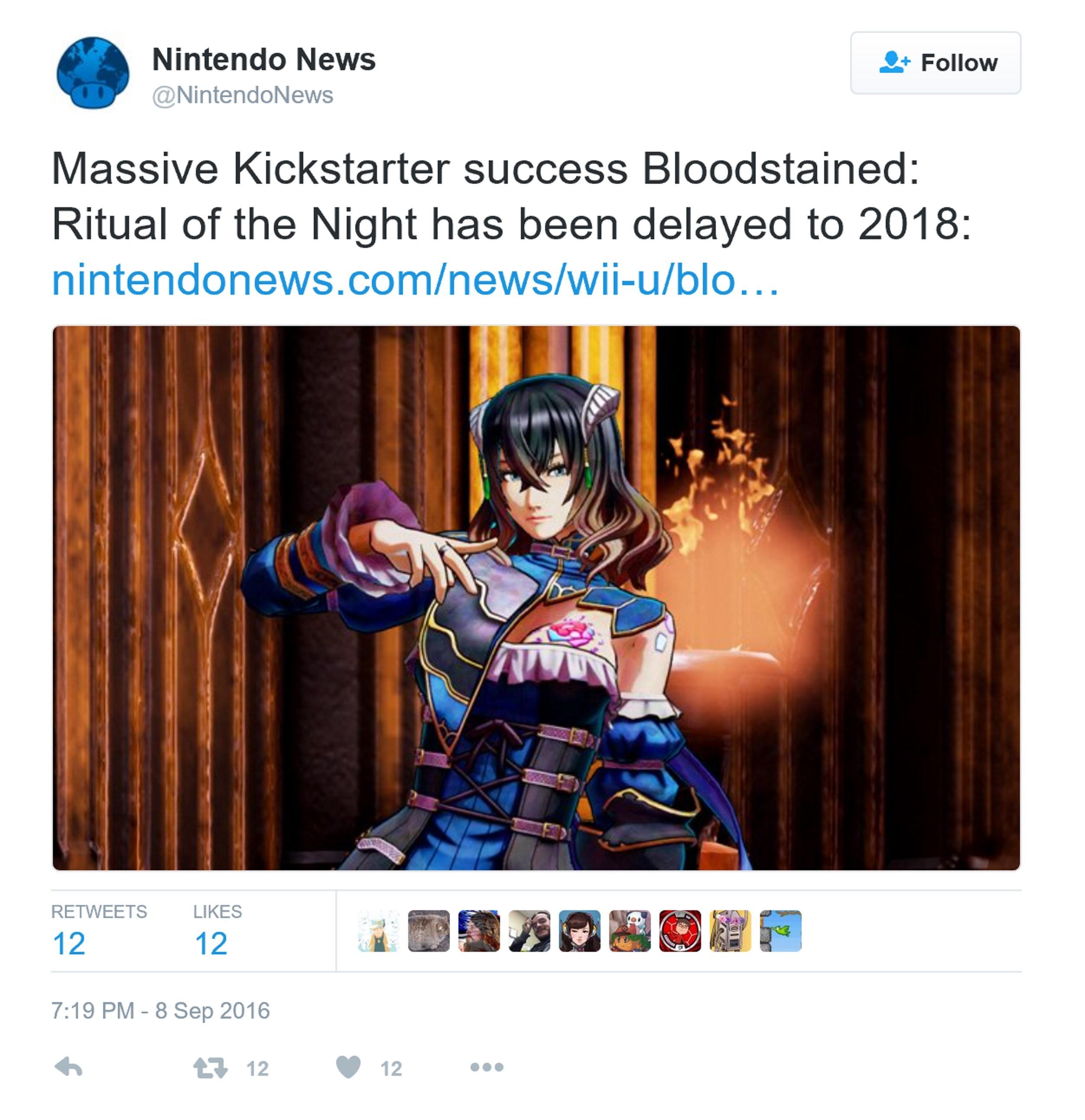 《血迹:夜之仪式》宣布跳票至2018年
