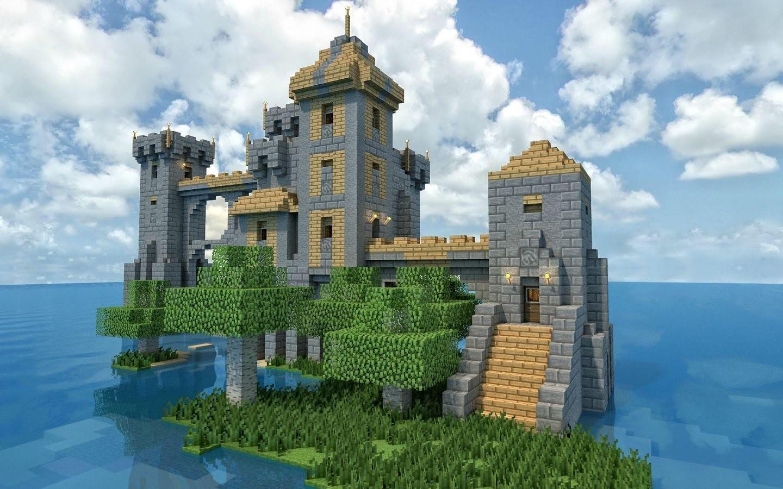 正方形城堡简笔画