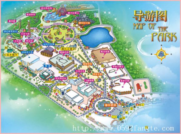厦门方特园区地图
