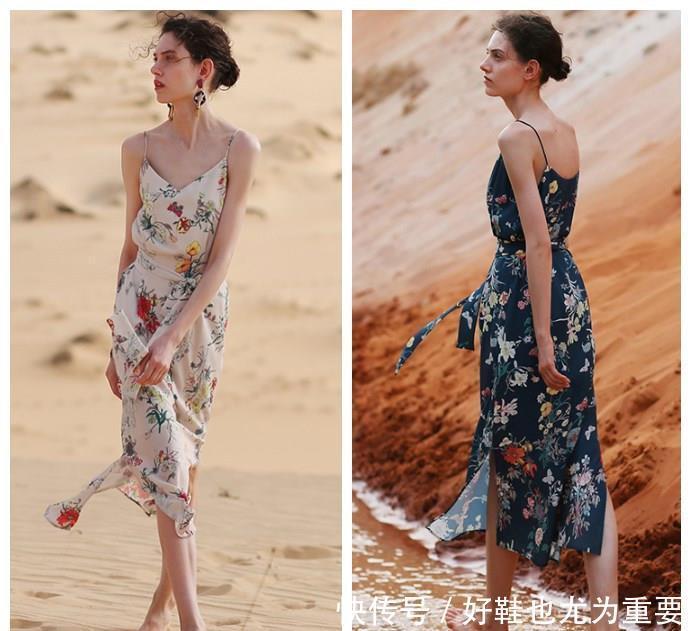 """别总穿一身黑!趁七夕节,试试这种""""印花裙"""",轻松美成焦点"""