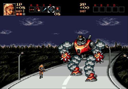 求问一款主角是机器人的街机游戏.