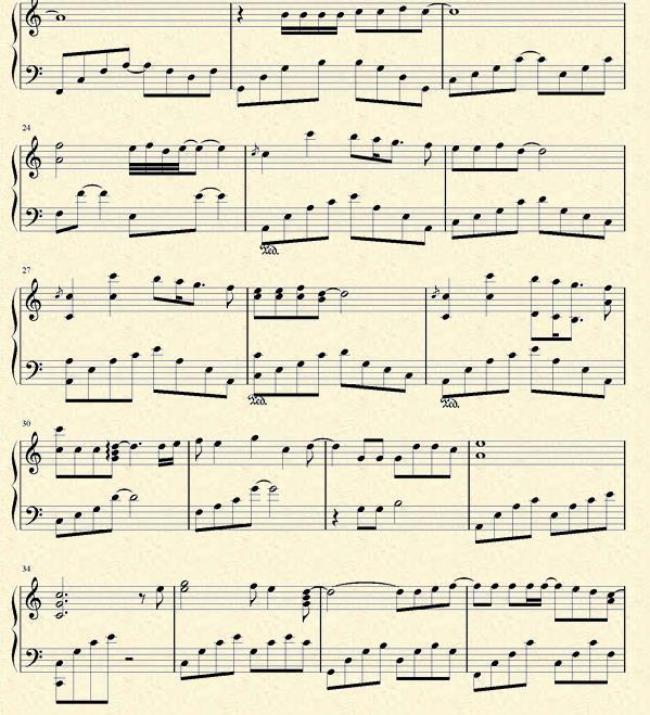 遇见钢琴谱蛐蛐