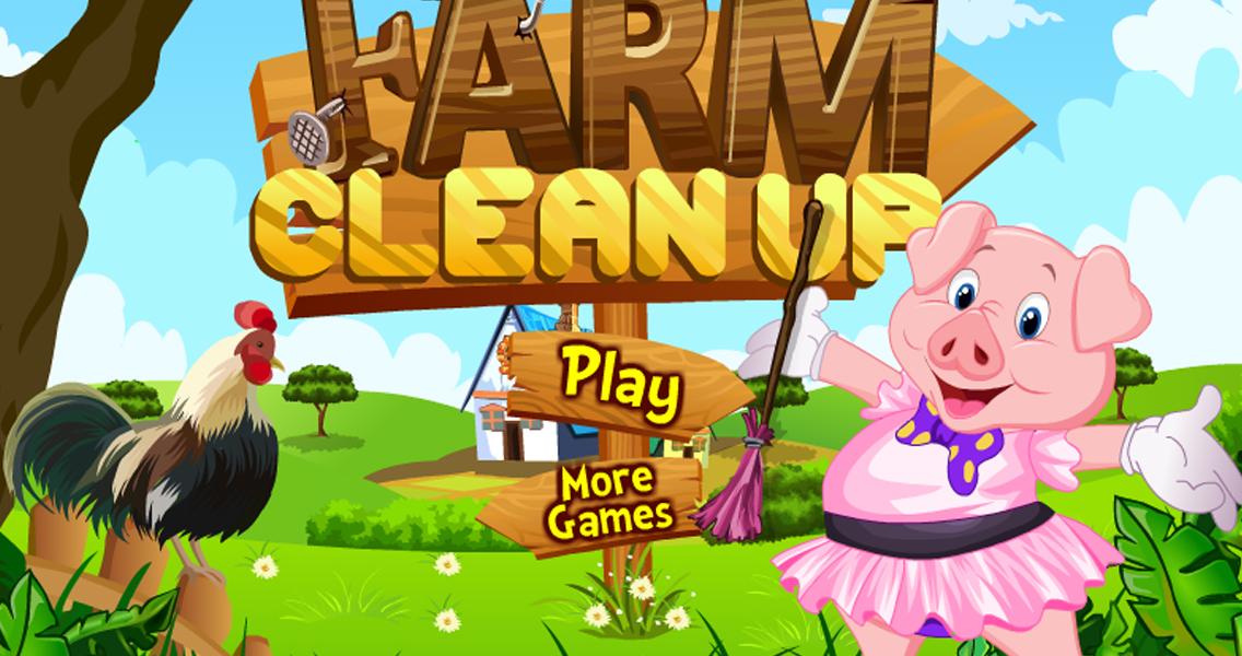 有乐趣在这个农场的房子清理装修游戏热门girlgames的!