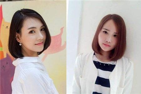 可爱的女生剪内扣短发,会显得更加青春可爱.