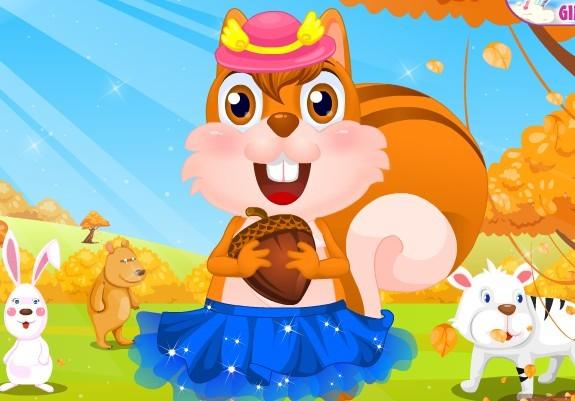 可爱的小松鼠,可爱的小松鼠小游戏
