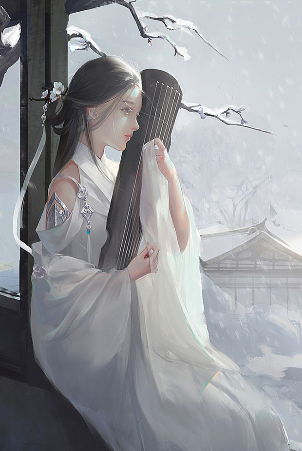 求几张古风动漫头像女的脸不要太清楚,背影或侧面,飘纱的感觉谢谢啦