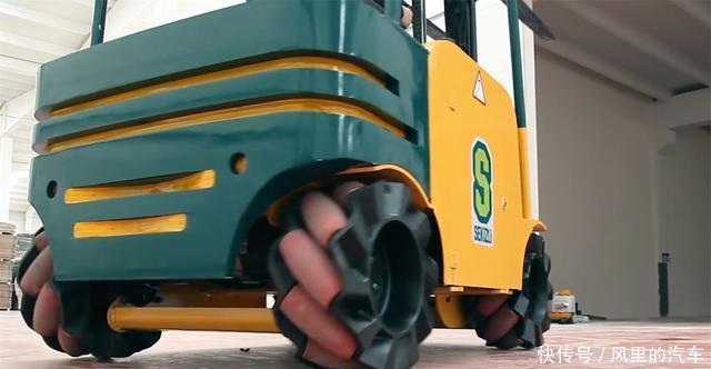 瑞典发明360度转向车轮,全方位无死角,能够在原地转圈