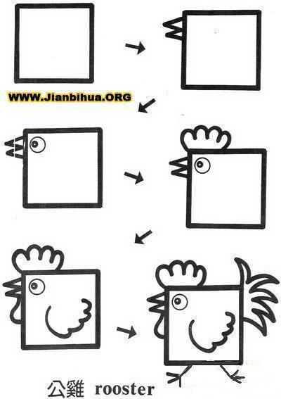 正方形可以画出什么图画