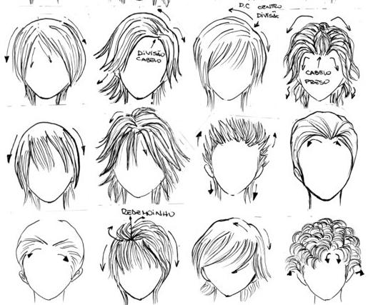 男生漫画画法的各种空气_360v男生女童短发刘海图片