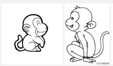 羚羊,小鹿,大象,猴子的简笔画法