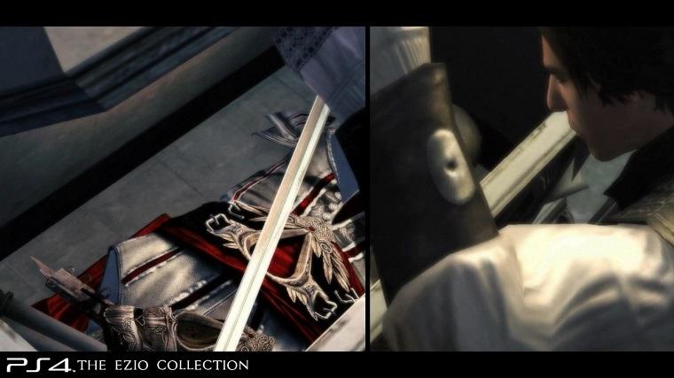《刺客信条:艾吉奥合集》PS4和PS3画面对比