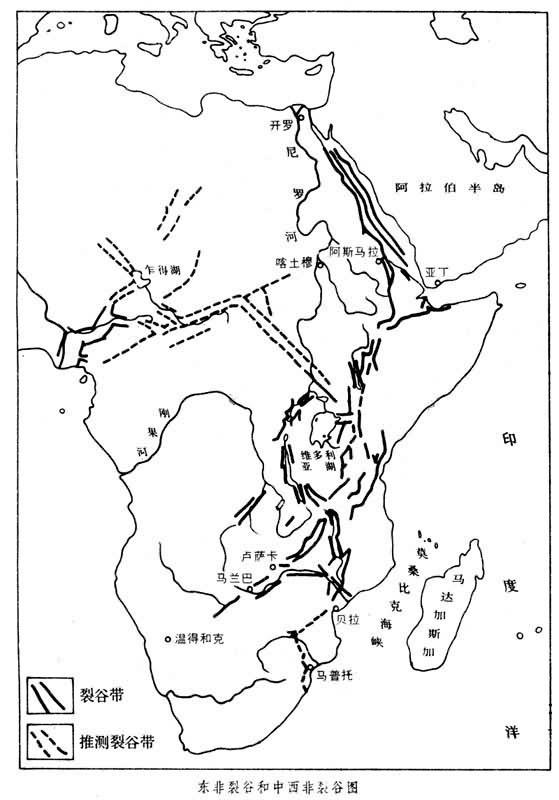 马达加斯加岛和地理上属于西亚的阿拉伯半岛.