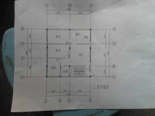 自建房图纸帮忙看下三层布局如何修改
