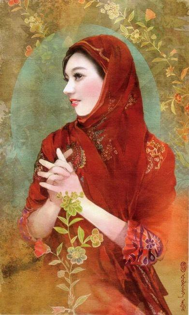 少数民族美女图之蒙古族、回族、苗族、傣族