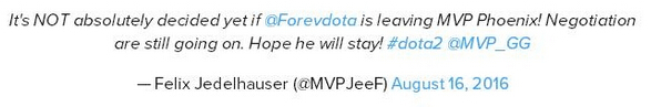 MVP战队QO与Forev合同到期