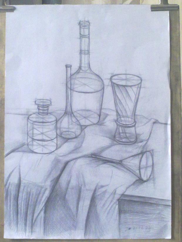 红酒 葡萄 铅笔画-素描杯子和葡萄酒的高清图片