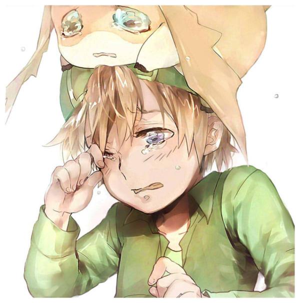 动漫图片男生哭泣