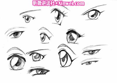 怎么画动漫眼睛