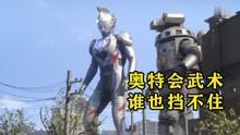 爆笑解说:奥特曼联手机器人,使出天马流星拳痛击小怪兽