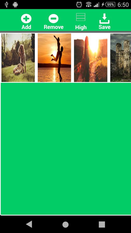 幻灯片以及多达9个图像(3最小)既高和宽框易帧添加和