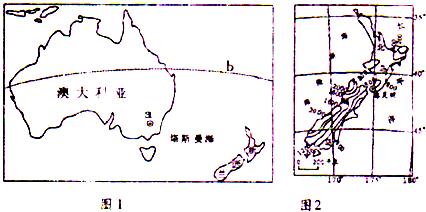 (2)新西兰的领土由南岛______及其附近一些小岛组成,按五带划分,该国