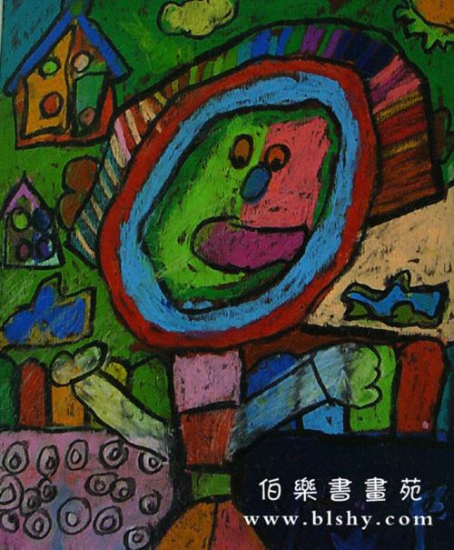 幼儿水彩笔绘画作品