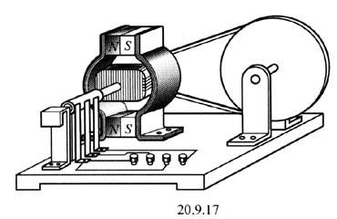 电枢绕组:直流电机的主要电路部分, 用以通过电流和感应产生电动势以