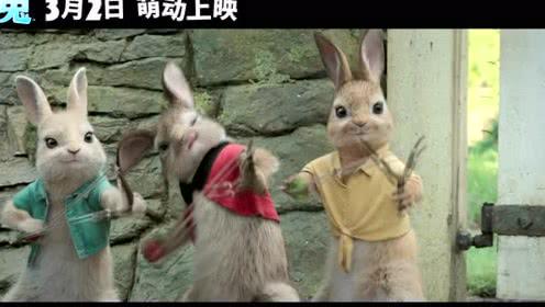 """《比得兔》预售预告 """"萌兔行动""""版预告打响开年第一炮"""