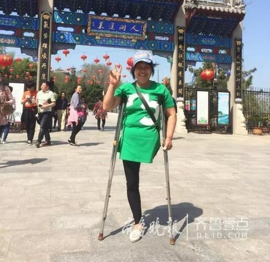 【转】北京时间       感动!独腿励志姐独登蓬莱阁 足迹遍布12省 - 妙康居士 - 妙康居士~晴樵雪读的博客