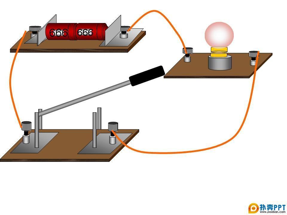 简单电路实物图