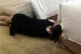 女同事居然睡成这样了
