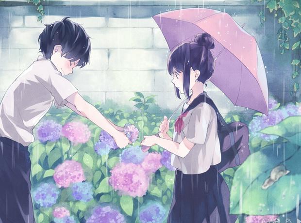 男主向女主在雨中告白