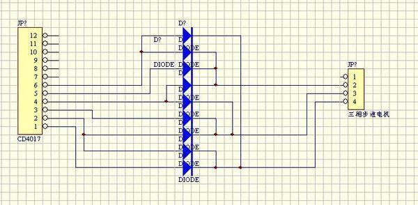ne555+CD4017+uln2003驱动28byj-48步进电机