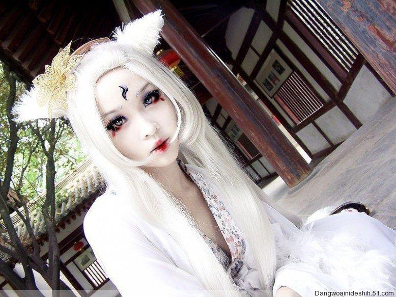 古代手绘狐妖美女